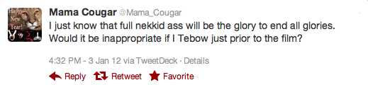 Mama Cougar Tweet Buttcrack Rob